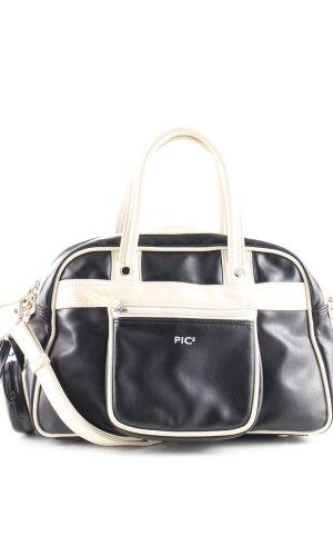 Handbag black-natural white casual look