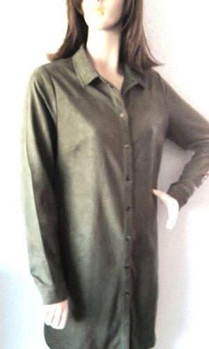 Tramontana Robe chemise vert olive