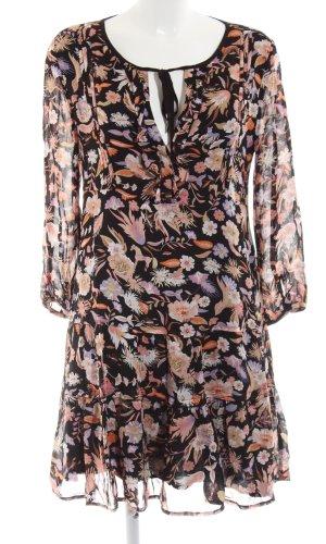 Robe chemise motif floral style Boho