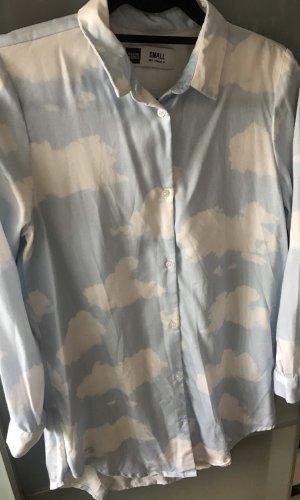 Dedicated Robe chemise blanc-bleu clair