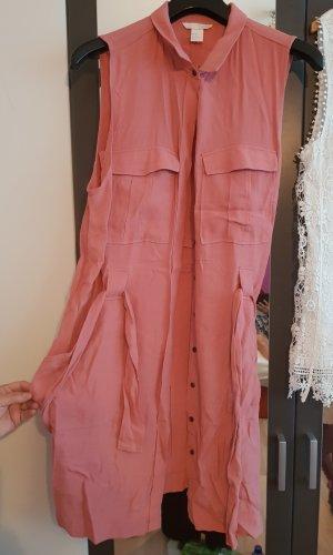 H&M Robe chemise blanc-or rose