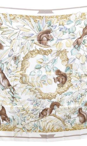 Hermès Bufanda de punto blanco Seda