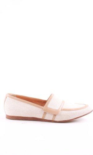 Hermès Zapatos sin cordones blanco puro-nude look casual