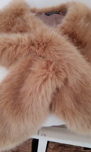 Zara Écharpe ronde beige-chameau