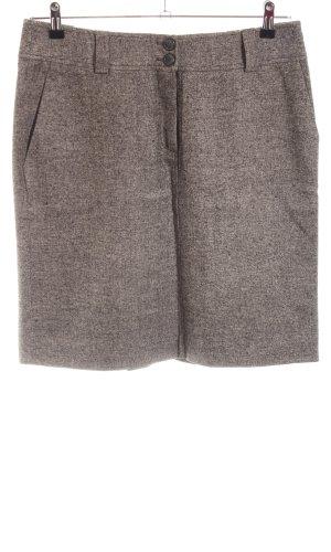 Hess Natur Wollen rok bruin gestippeld zakelijke stijl