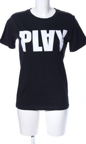 T-Shirt schwarz-weiß Casual-Look