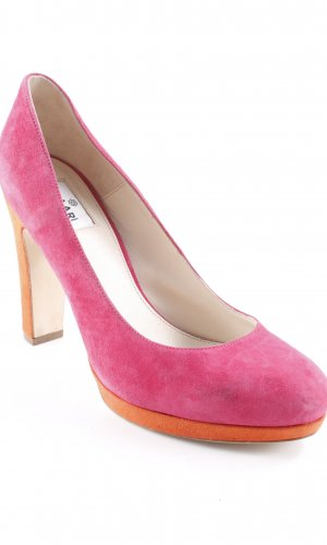 High Heels magenta-orange extravaganter Stil