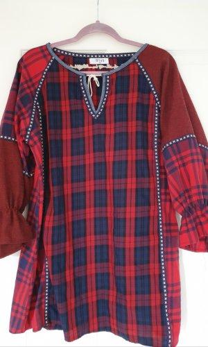 Hippie Boho Bohemian tartan Kleid Kleid kariert weihnachten winterkleid