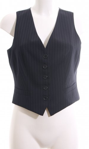 Hirsch Herenvest zwart gestreept patroon zakelijke stijl