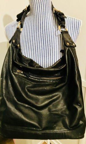 Hobo Tasche Echtleder schwarz