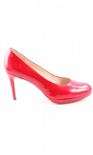 Högl Plateauzool pumps rood zakelijke stijl