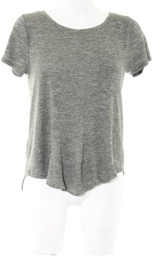 Hollister Gehaakt shirt lichtgrijs gestippeld casual uitstraling
