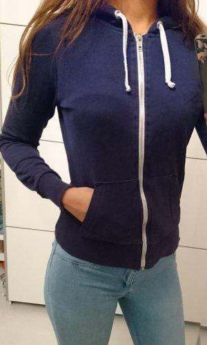 H&M Veste sweat blanc-bleu