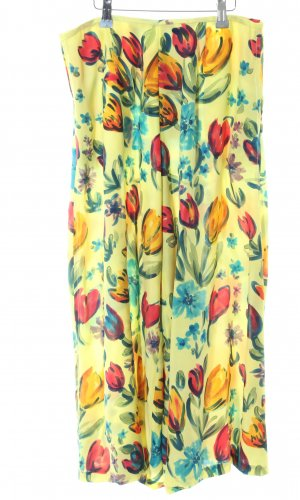 Jupes-culottes motif de fleur style extravagant