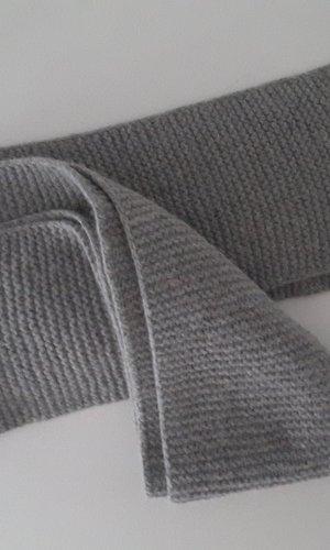 Bufanda de punto color plata-gris claro Lana