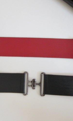 Hugo Boss Cinturón de cadena negro-rojo oscuro Cuero