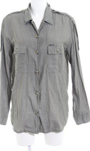 Hurley Lange blouse groen-grijs simpele stijl
