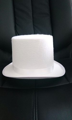 Hut Zylinder weiß