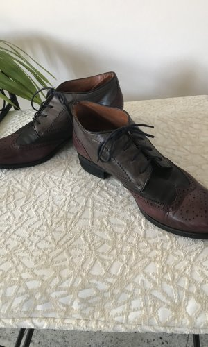 Maripé Zapatos brogue burdeos-gris oscuro Cuero