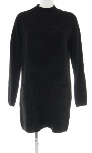 Jake*s Sweaterjurk zwart volledige print casual uitstraling