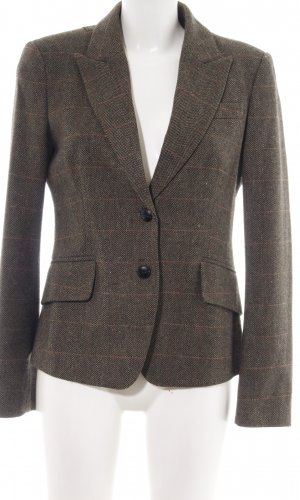 Jake*s Woll-Blazer braun-hellorange Allover-Druck Business-Look