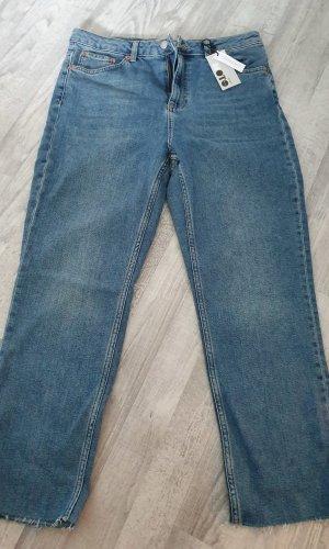 Topshop 7/8 Length Trousers blue