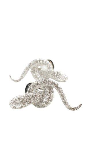 Jenny Pendientes de clip color plata elegante