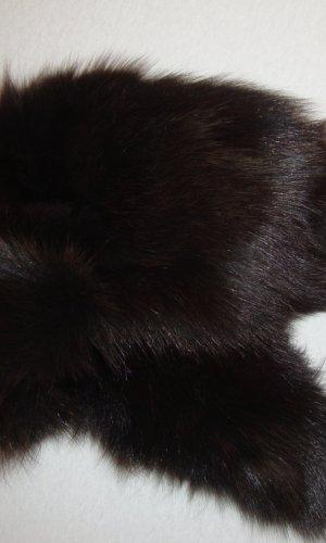 Jet Set Chapeau en fourrure brun noir