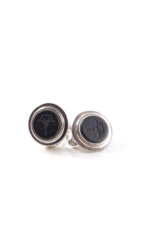 Joop! Pendientes de clip negro-color plata look casual