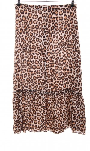 Just Female Volanten rok luipaardprint casual uitstraling