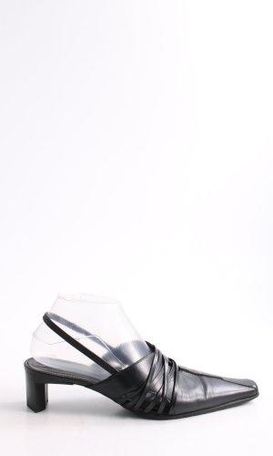 K+S Shoes Escarpin à bride arrière noir style décontracté
