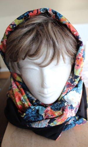 Écharpe à capuche multicolore coton