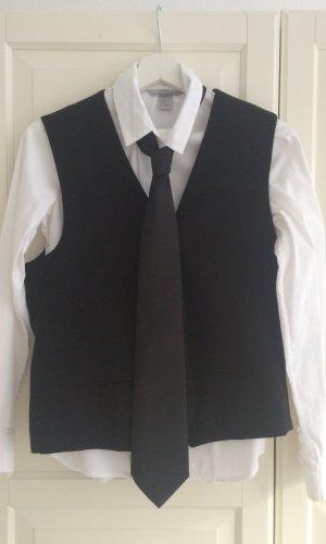 H&M Herenvest zwart-wit Polyester
