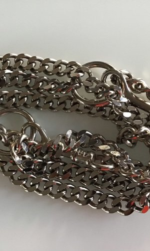 Dolce & Gabbana Cinturón de cadena color plata acero inoxidable