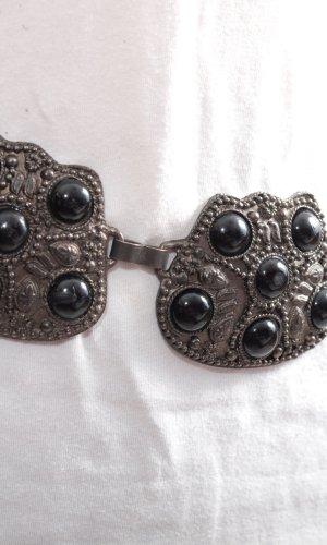 Cinturón de cadena color plata-negro