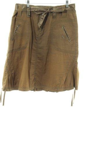 Khujo Jupe à plis brun-bronze style décontracté