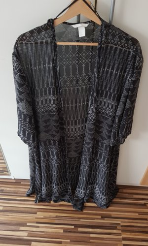 H&M Kimono blanco-negro