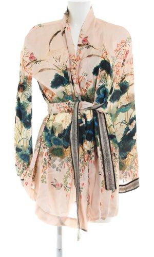 Kimono estampado floral look casual