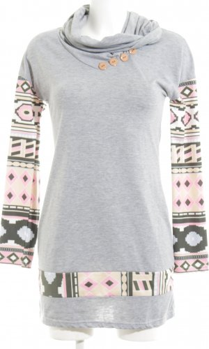 Kivensl Sweatkleid grafisches Muster Casual-Look