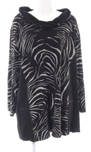 Kj Brand Sweatshirt schwarz-weiß Allover-Druck Casual-Look