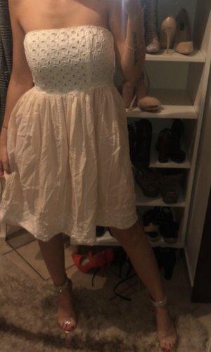 Robe ballon or rose-blanc
