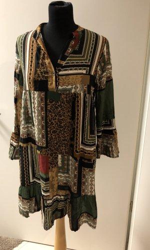 Robe chemise multicolore