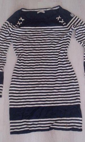 Tom Tailor Sweaterjurk donkerblauw-wit