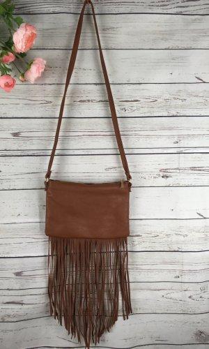 H&M Fringed Bag light brown-brown