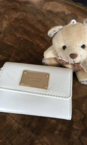 Kleines weißes Portemonnaie von Michael Kors