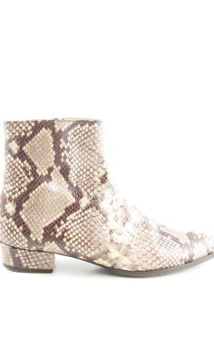 KMB Ankle Boots braun-creme Animalmuster extravaganter Stil