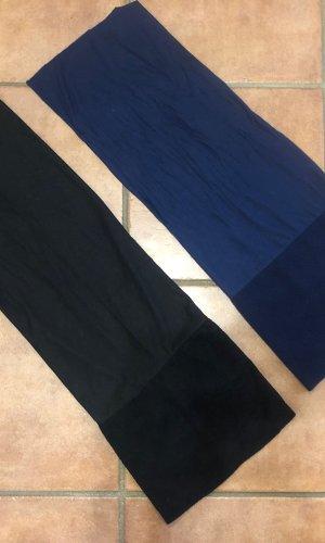 Stoffen muts zwart-donkerblauw
