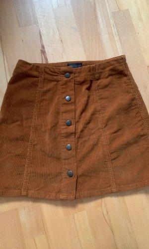 Topshop Miniskirt brown-cognac-coloured