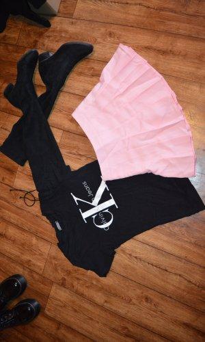 Jupe à plis rose clair-rose