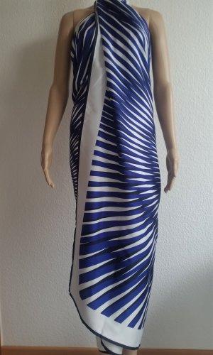 La perla Stola wit-donkerblauw Polyester